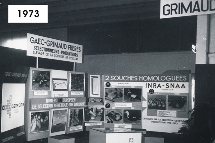 The beginning of the story: a booth at a conference in the 70s